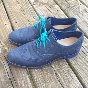 Cole Haan Blue Brogue Oxford Shoes Sz 8